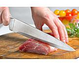 Meat, Preparation, Cutting