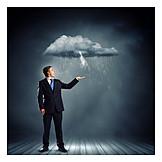 Geschäftsmann, Unglück, Stress & Belastung