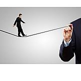 Gefahr & Risiko, Karriere, Geschicklichkeit, Drahtseilakt