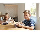 Boy, Laptop, Internet
