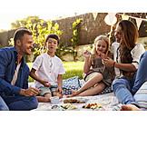 Familie, Picknick, Sommerlich