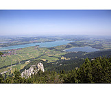 Aerial View, Bavaria, Alpsee, Weissensee