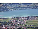 Aerial View, Bavaria, Alpsee, Neuschwanstein Castle