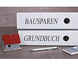 Bausparen, Hauskredit, Grundbuch