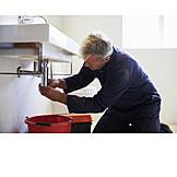 Reparieren, Reparatur, Handwerker, Hausmeister, Undicht, Klempner, Verstopfung