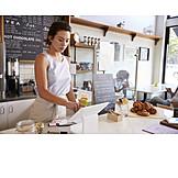Gastronomie, Café, Dienstleistung, Kellnerin, Verkäuferin, Barista