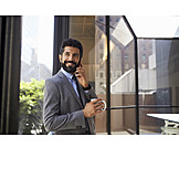 Businessman, On the phone