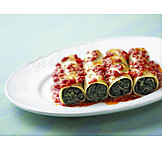 Filled, Pasta, Cannelloni