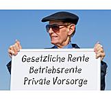 Rentner, Altersvorsorge, Rente