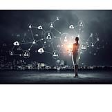Business, Datentransfer, User