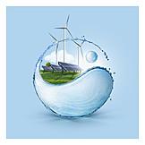 Solar Energy, Hydropower, Yin Yang