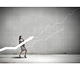 Wachstum, Gewinn, Karrierefrau