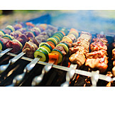 Vegetable Skewers, Kebabs, Barbecue