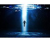 Technology, Light Beam, Humans, Interface, Teleportation