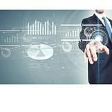 Business, Wirtschaft, Touchscreen, Diagramm, Virtuell, Interface