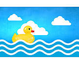 Holiday & Travel, Summer, Wave, Rubber Duck