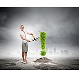 Wachstum, Ausrufezeichen, Umweltbewusstsein
