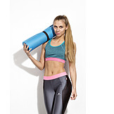 Young Woman, Woman, Sports & Fitness, Gymnastics Mat