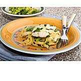 Pasta, Fish Dish, Cod