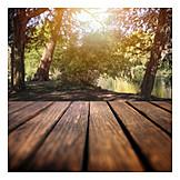 Holztisch, Picknick