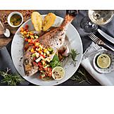 Dorade, Fischgericht, Tellergericht
