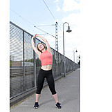 Young Woman, Woman, Sports & Fitness, Stretching, Stretching