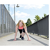 Young Woman, Woman, Sports & Fitness, Sprint