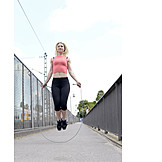 Young Woman, Sports & Fitness, Jump, Rope, Jumping Rope