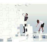 Teamarbeit, Zusammenarbeit, Strategie, Lösung, Rätsel