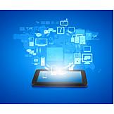 Hardware, Netzwerk, Wireless, Kreislauf, Cloud
