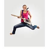 Teenager, Luftsprung, Gitarre Spielen