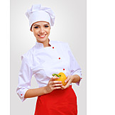 Gastronomie, Paprika, Köchin