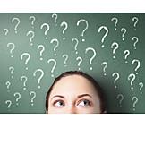 überlegen, Ratlos, Fragezeichen, Frage