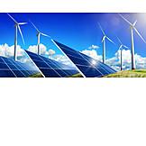 Wind Power, Alternative Energy, Solar Plant