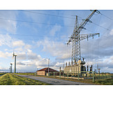 Power Generation, Wind, Electricity Substation