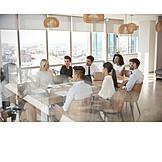 Büro, Meeting, Team, Brainstorming