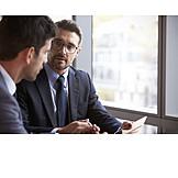 Geschäftsmann, Business, Arbeitsplatz, Besprechen