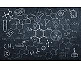 Wissenschaft, Chemie, Formel, Atom