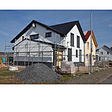 Hausbau, Baugebiet, Neubaugebiet