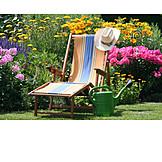 Garten, Liegestuhl, Lieblingsplatz