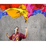 Enthusiastic, Multi Colored, Paint, Creative