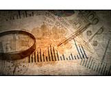 Hintergrund, Business, Geld & Finanzen, Börse, Vintage