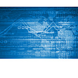 Global, Economy, Statistics, Binary Code