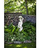 Garden, Statue, Landscape gardening