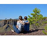 Teenager, Couple, Hiking