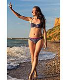 Young Woman, Woman, Vacation, Bikini