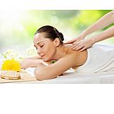 Frau, Entspannung, Massage
