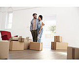 Paar, Eigenheim, Einzug, Neues Zuhause