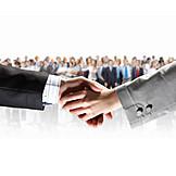 Zusammenarbeit, Handschlag, Geschäftsabschluss