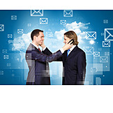 Kommunikation, Telefonieren, Geschäftspartner